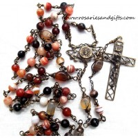 Ecco Homo Bronze Heirloom Wire Wrapped Rosary